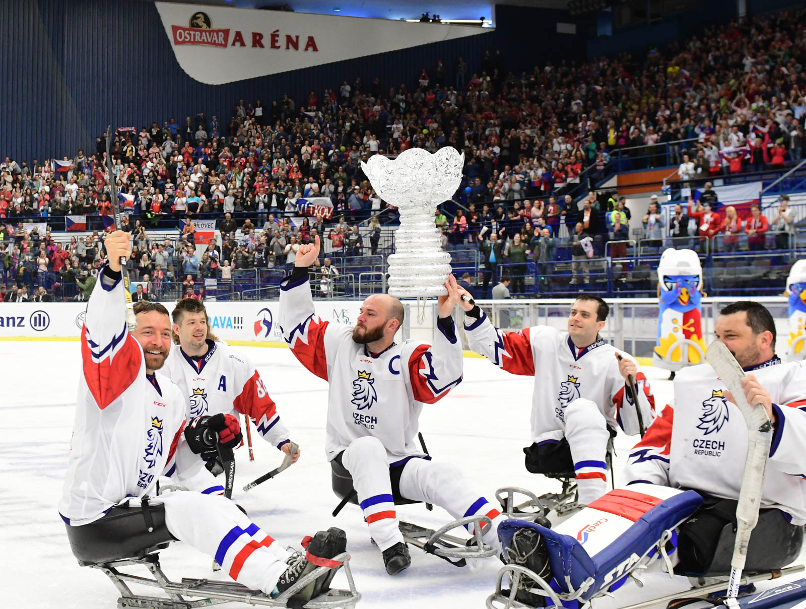 World para ice hockey championship bronze medal game between Korea and Czech Republic in Ostrava, Czech Republic, 4th of May 2019.
